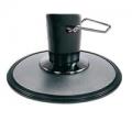 satinierter Tellerfuß mit arretierbarer Hydraulikpumpe, schwarz