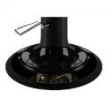 Tellerfuß mit arretierbarer Hydraulikpumpe, schwarz