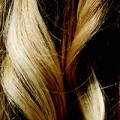 Detail, blonde Locken