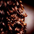 Detail, braune Locken