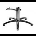 polierter Aluminium Fünffuß mit arretierbarer, verchromter Hydraulikpumpe - +165,00€