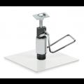 Metall Bodenplatte mit arretierbarer Hydraulikpumpe, pulverbeschichtet - +225,00€