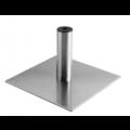 Edelstahl Bodenplatte mit Bein - +110,00€