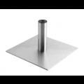 Edelstahl Bodenplatte mit Bein - +10,00€