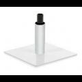 Metall Bodenplatte mit Bein, pulverbeschichtet - +95,00€